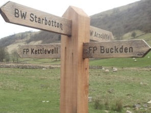 Yorkshire Dales fingerpost. Photo by Barbara Howe