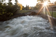 Rushing water.  Photo by Barbara Howe