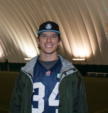 Former Toronto Argonaut Kicker, Swayze Waters. Photo by Barbara Howe.