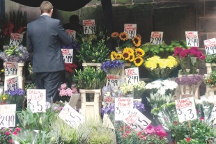 Manchester Flower stall. Photo by Barbara howe