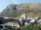 A view of the bridge at Mostar, Bosnia. Photo by Barbara Howe