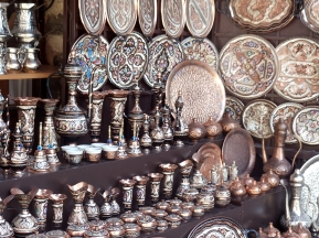 Mostar souvenir stall. Photo by Barbara Howe