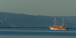 Tour boat, Tucepi, Croatia. Photo by Barbara Howe