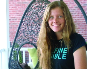 Samantha Busch, earthquake survivor. Photo by Barbara Howe.