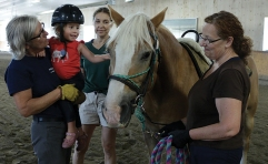 WindReach Farm therapeutic riding session. Photo by Barbara Howe