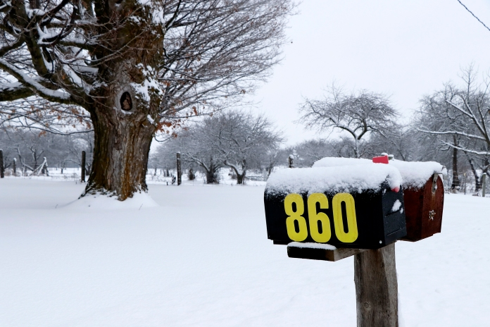 Winter mailbox. Photo by Barbara Howe