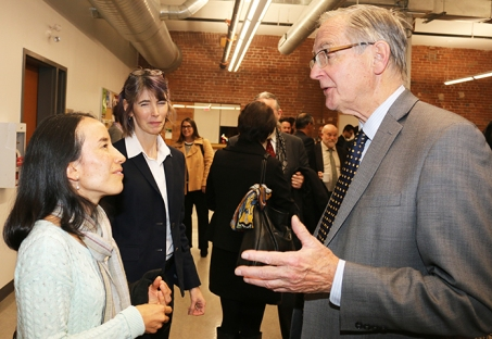 Former Chief Justice,Ian Binnie at UOIT. Photo by Barbara Howe