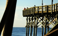 Fishermen off Myrtle Beach Pier