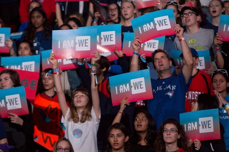 WE Day crowd at the Air Canada Centre, Toronto. Photo by Barbara Howe.