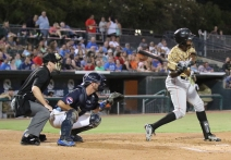 Myrtle Beach Pelicans v Down East Wood Ducks batsman Ti'Quan Forbes